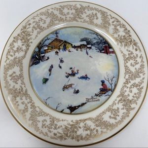 Norman Rockwell Winter Delight Collector Plate